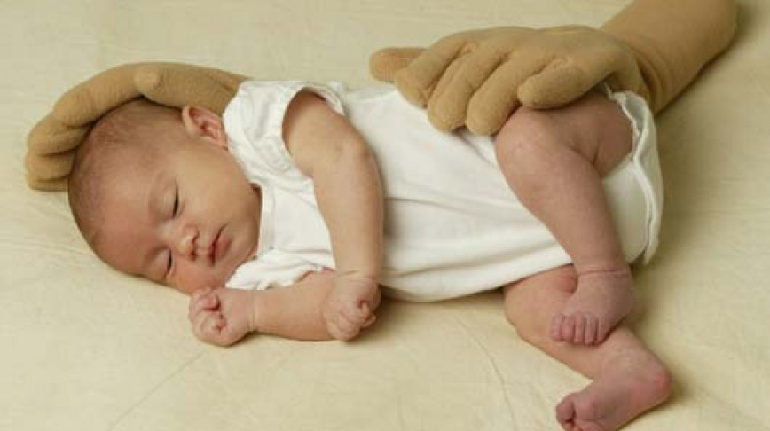Visual of Infant Pillow - Simulates a Mother's Hand