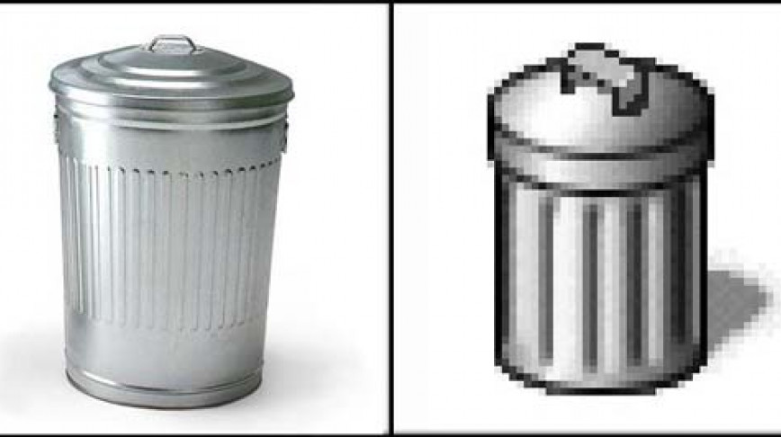 Visual of Fake for Real: Digital Trashcan