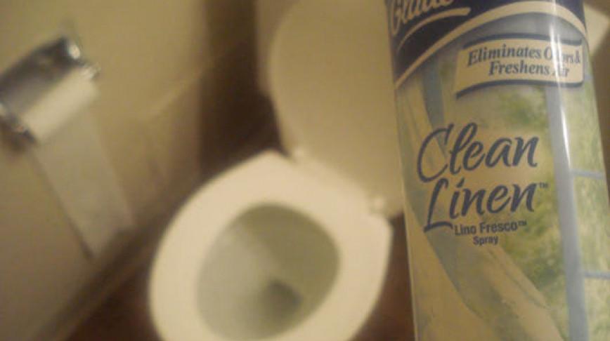 Visual of Clean linen toilet spray