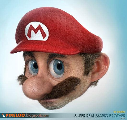 Visual of Real Mario (closeup)