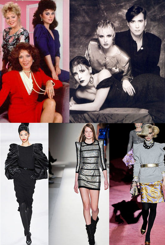 Visual of Shoulder Pads: Fashion tide back to the 80's?