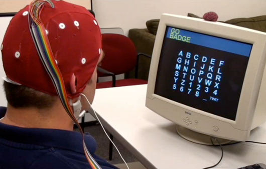 Visual of Turning Brain Waves into Tweets