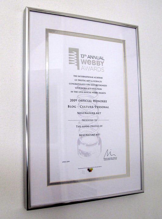 Visual of Webby Awards