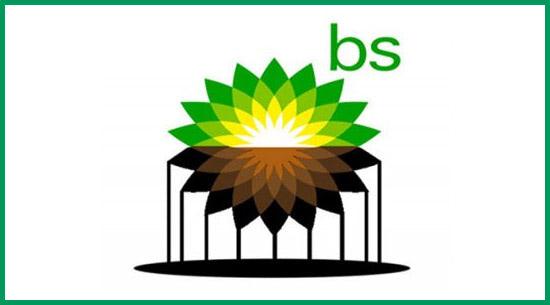 Visual of BP logo redesign