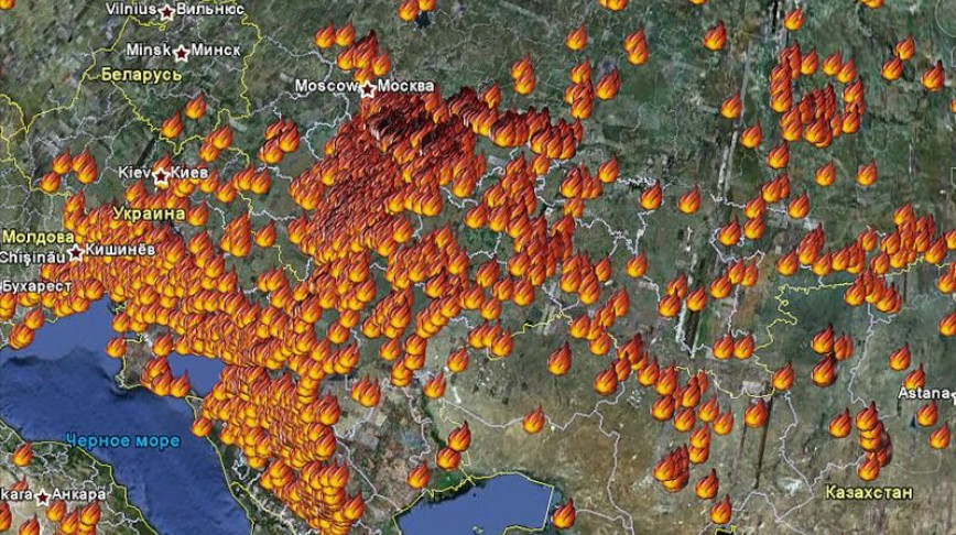 Visual of Climate Craze in Russia