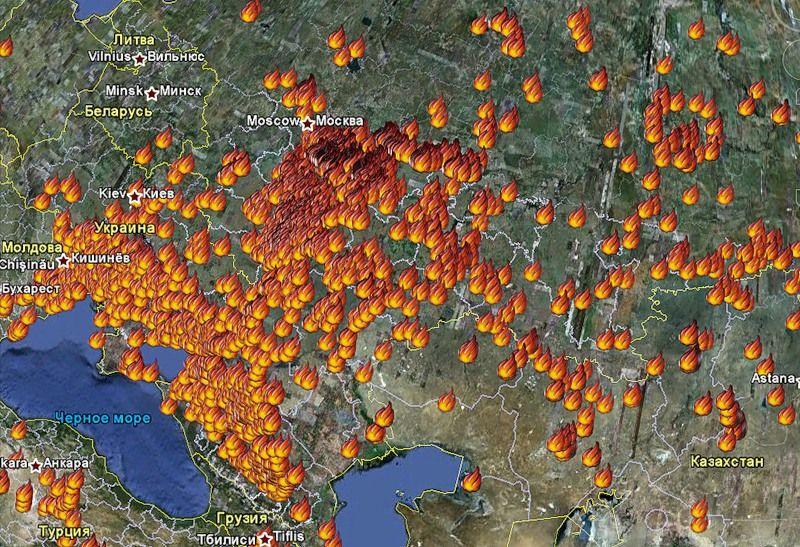 Visual of Climate Craze in Russia
