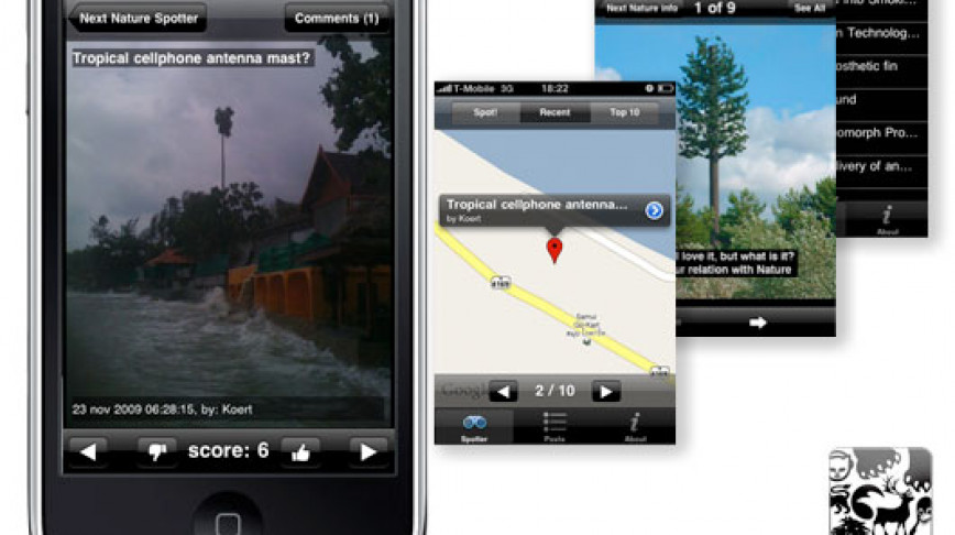 Visual of Next Nature Spotter – iPhone application