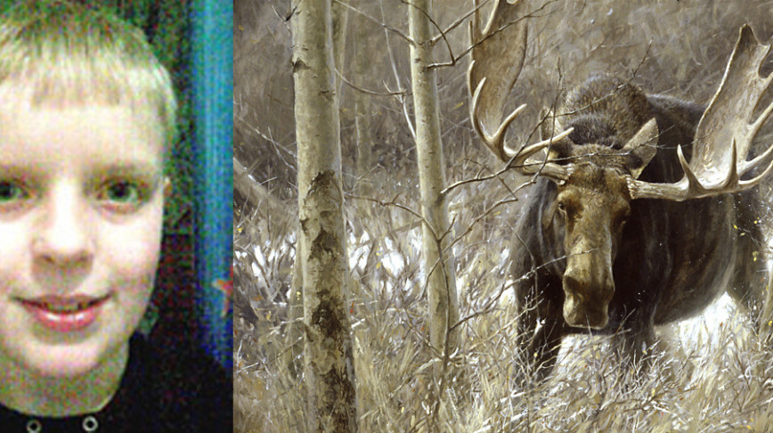 Visual of Norwegian boy saves sister from moose attack using world of warcraft skills