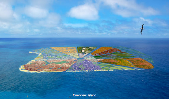 Visual of Recycled Island