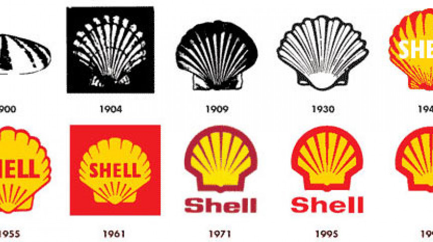 Visual of Shell Logo Evolution