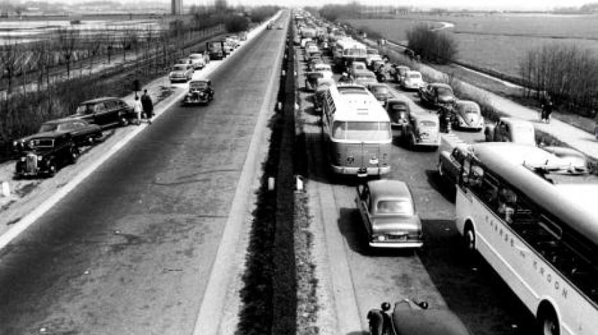 Visual of Traffic Jam Celebration