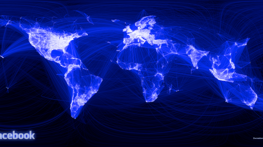Visual of Mapping the World through Facebook