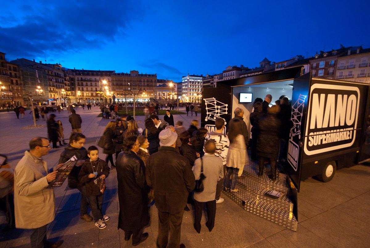 Visual of Nano Supermarket visits Pamplona, Spain