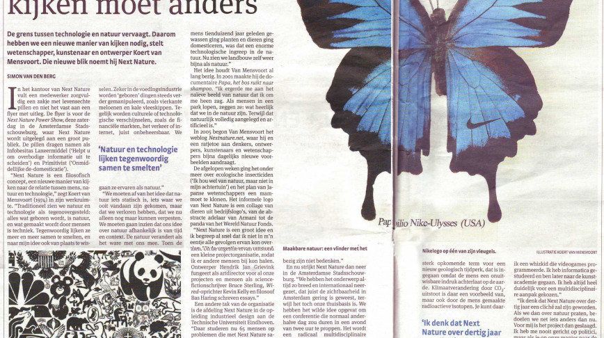 Visual of Parool Article on Next Nature