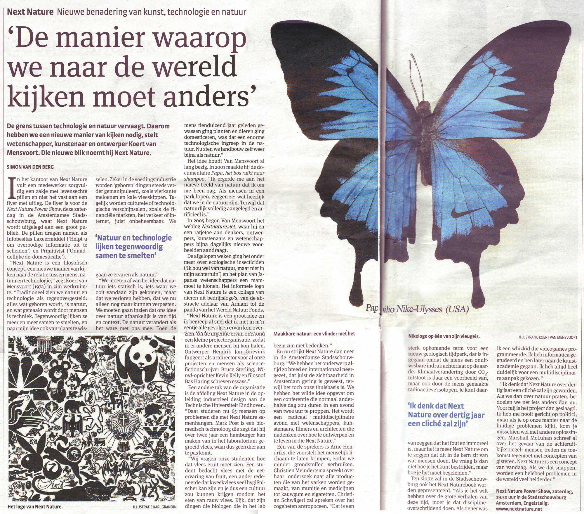 Visual of Parool Article on Next Nature