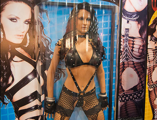 Visual of Real women advertise RealDolls