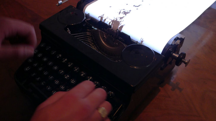 Visual of Typing Out Evolution