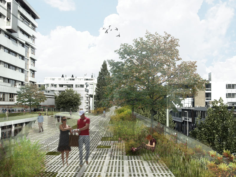"""Visual of A New """"High Line"""" Leads to Rotterdam"""
