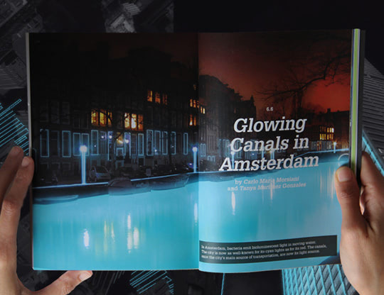 Visual of Amsterdam's Canals by Bacterial Light