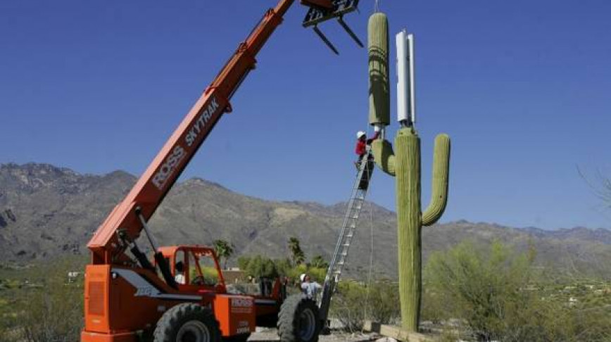 Visual of Arizona gets a Cactus Cellular Tower Too
