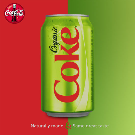 Visual of Coca-Cola embraces Organic Coke?