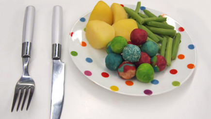 Visual of Eating in Vitro: Magic Meatballs