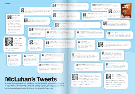 Visual of Featured Page #08: McLuhan's Tweets
