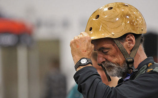Visual of Helmet Crafted from Wood and Cork is just as Safe as Your Plastic and Foam One