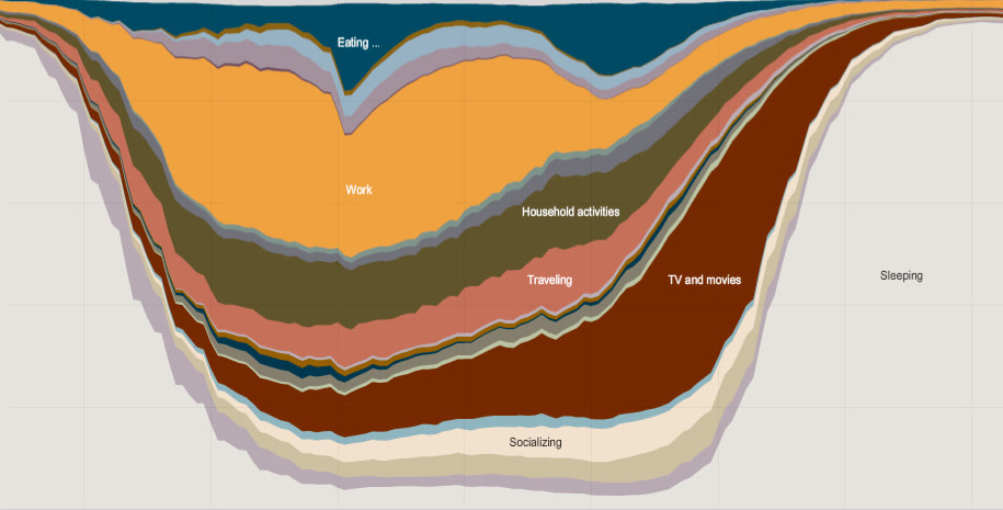 Visual of How People spend their Day