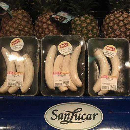 Visual of Pre-Peeled and Plastic-Wrapped Bananas