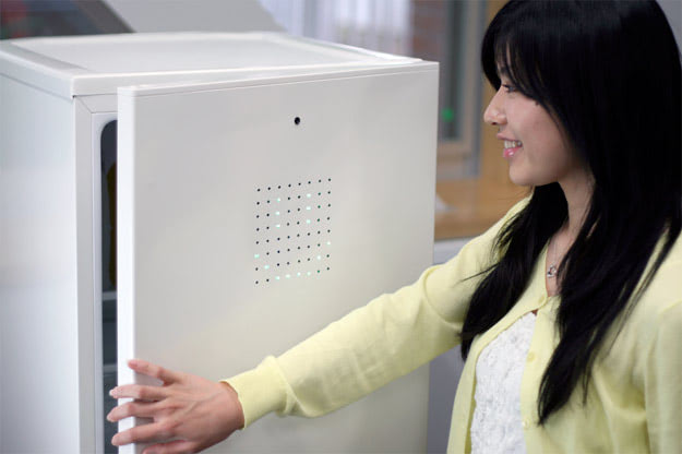 Visual of Robot Fridge Forces You to Smile for Food