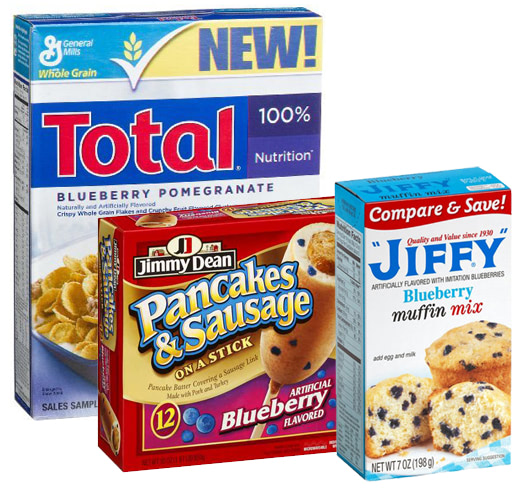 Visual of Those Blueberries in Your Cereal, Muffins and Baking Mixes? All Fake.