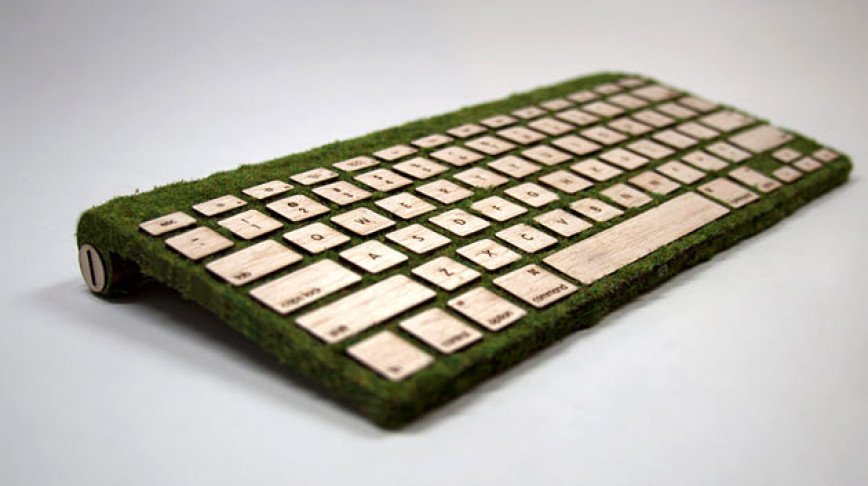 Visual of A Touchable, Moss-Covered Keyboard