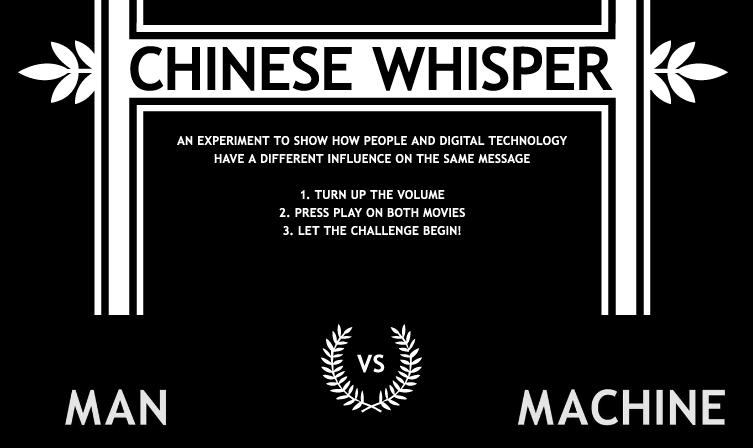 Visual of Chinese Whisper Challenge Pits Man Against Machine