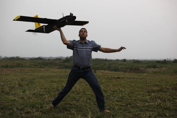 Visual of Drones Protect Rhinos in India