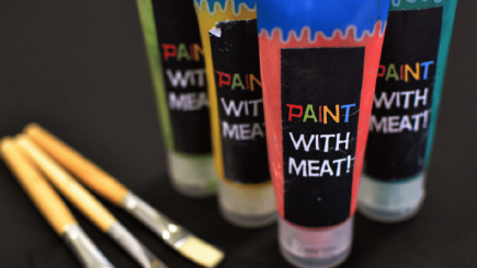 Visual of Eating In Vitro: Meat Paint