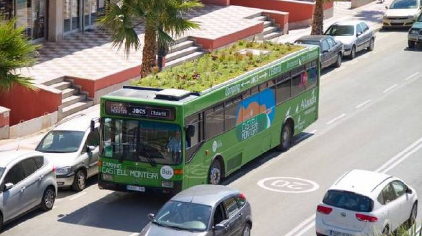 Visual of Gardening on the Roof of a Bus