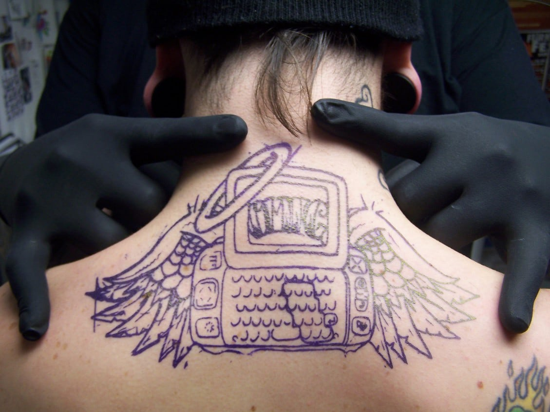 Visual of Google Wants to Tattoo a Phone Onto Your Throat