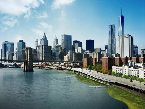 Visual of New York Preps for Climate Change by Building New Wetlands