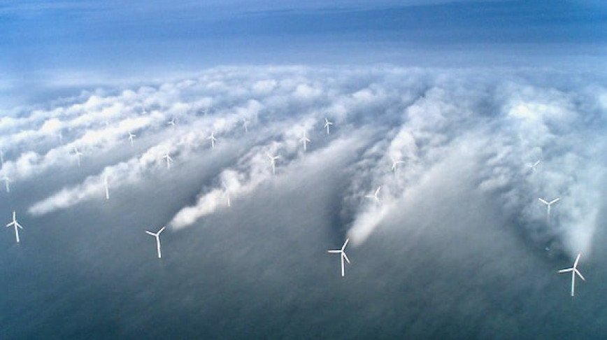 Visual of Offshore Wind Farms Generate Their Own Microclimates