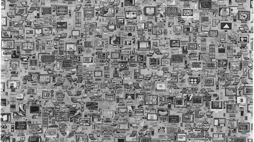 Visual of Subjective Map of the Internet