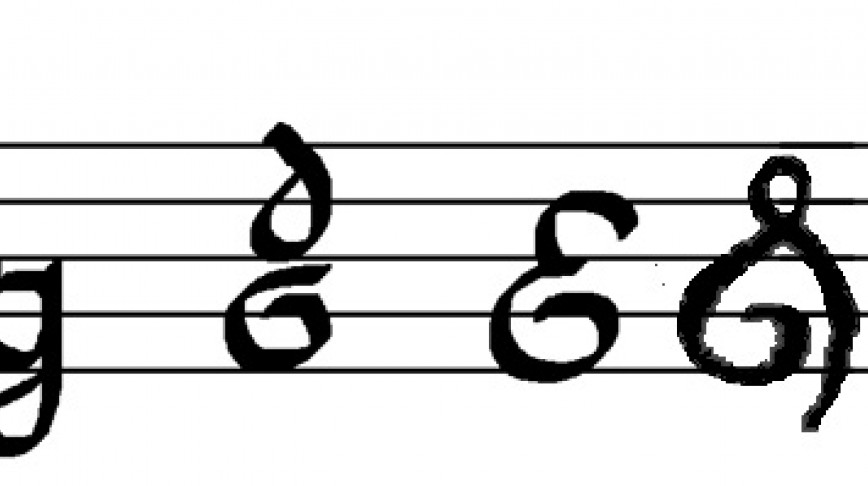 Visual of The Evolution of the Treble Clef