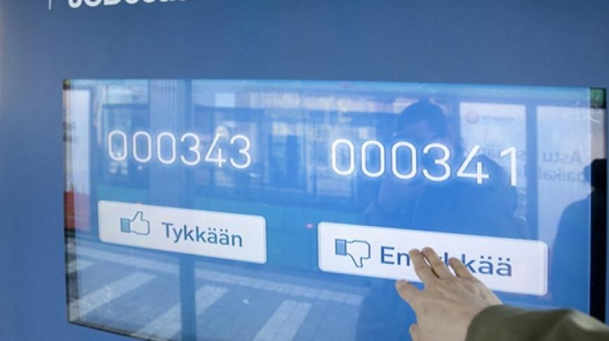 Visual of Tykkään or En tykkää? Digital Voting Takes to the Streets