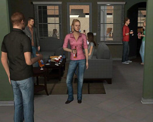 Visual of Virtual Reality Treats Nicotine Addicts