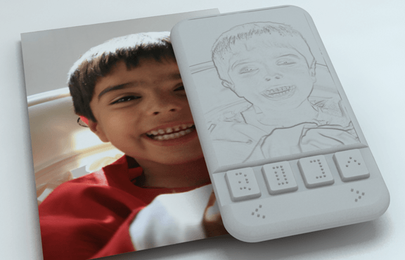 Visual of What You Feel Is What You Get - Smartphone for the Blind
