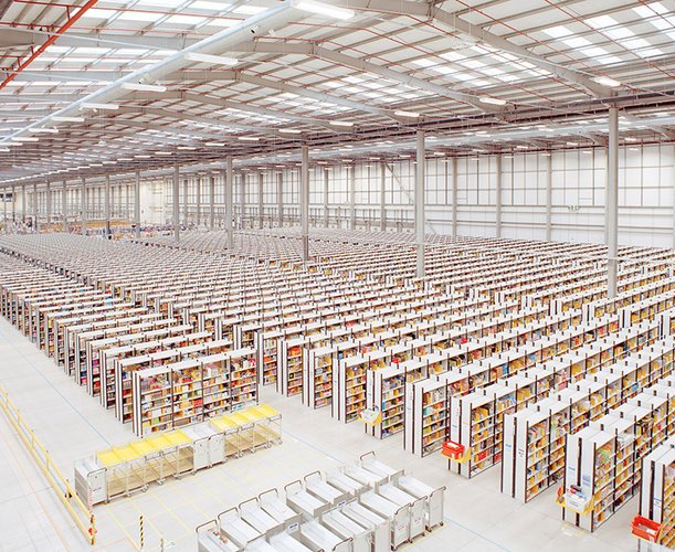 Visual of World's Worst Job? Being a Human Robot at Amazon's Fulfillment Center