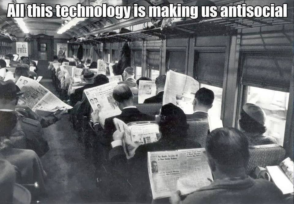 Visual of All This Technology Makes Us Anti-Social