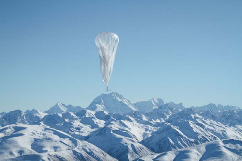 Visual of Balloon-Powered Internet For Everyone
