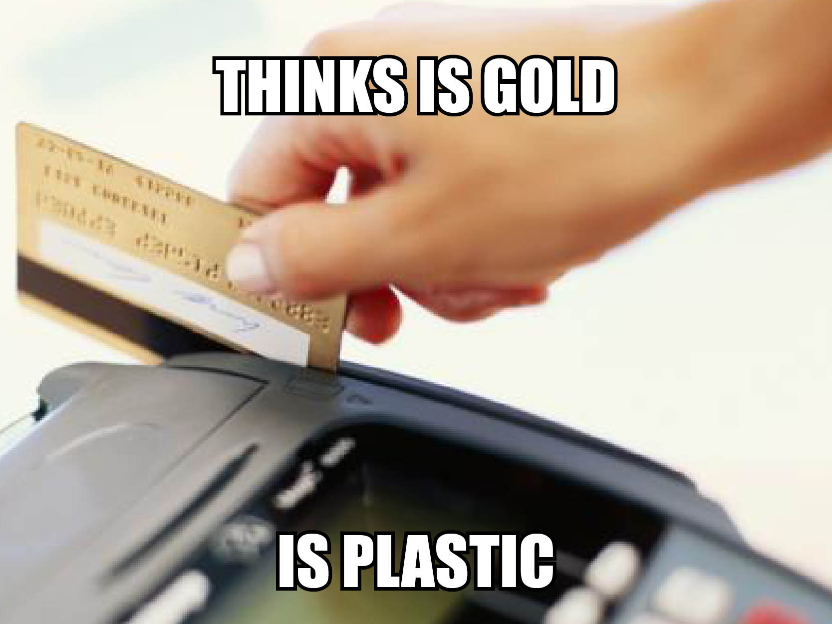 Visual of Credit to Plastic