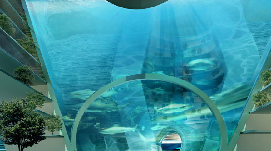 Visual of Floating Underwater Self-Sufficient City